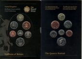 Наборы монет В-Г, Великобритания 2008, Emblems of Britain (BU 7 монет, booklet)