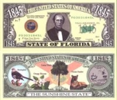 Сувенирные доллары, Florida - 2003 Funny Money by AAC