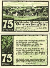 Benneckenstein, 75 пфеннигов 1921 -  (SoC# 6.a)