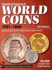 Книги по нумизматике, World Coins 1701-1800 (Krause publ., 5th ed.)