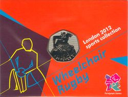 50 пенсов 2011 - Wheelchair Rugby, London-2012 / Великобритания (card)