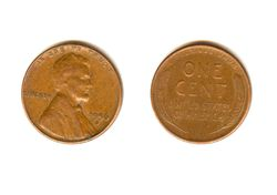 1 цент 1956 D - Wheat Cent / США (VF-XF)