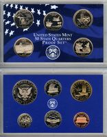 US Mint 2004 (double proof 11 монет, box)